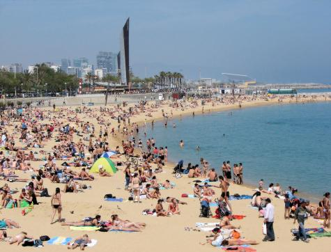 Naturism in Barcelona, Spain